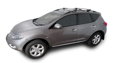 Nissan Murano 5dr SUV With Roof Rails 2nd Gen Z51 01/09on Rhino Vortex Roof  Racks (pr)
