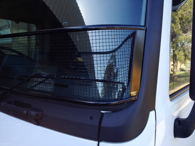Stone Guard Mercedes Actros Black Mesh Windscreen