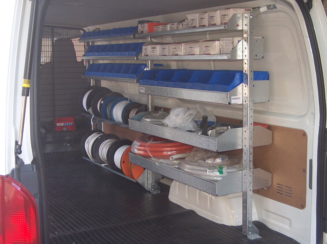 Electricians Shelving Kit Renault Trafic 2 Bays X 1030mm