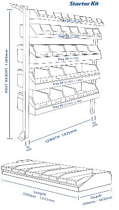 Plumbers Shelving Kit Hiace 2 Bays X 1030mm Roof Rack World