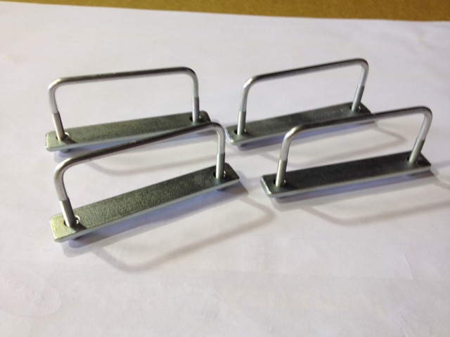 Roof Rack Basket U Bolt Kit 95mm With Nyloc Nuts X4