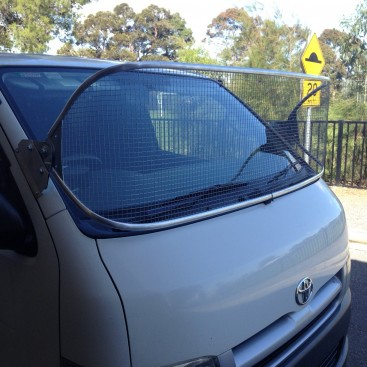 Stone Guard Toyota Hiace Lwb 2005on Silver 450mm