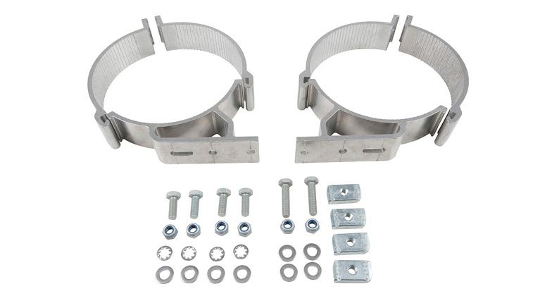 Rhino Rack Bc2 150mm Conduit Pipe Clamp Set 2 Bars