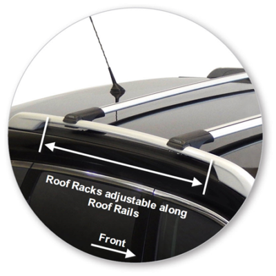Nissan X Trail 5dr Suv With Roof Rails 03 14on Whispbar