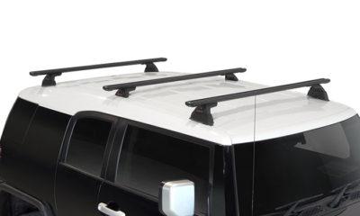 Toyota FJ Cruiser 2dr SUV With Roof Rails 03/11on Yakima Lock N Load Roof  Racks (3 Bar)