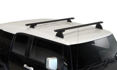 Toyota FJ Cruiser 2dr SUV With Roof Rails 03/11on Yakima Lock N Load Roof  Racks (pr)