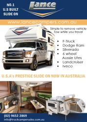 See why Lance Camper is the No1 Slide On Camper in the US. Now available in Australia, QUALITY, DURABLE, ADAPTABLE