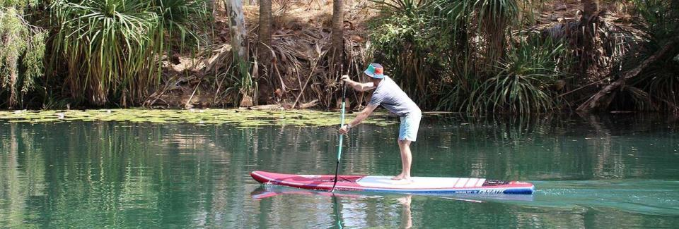 SUP board riding at Adels Grove