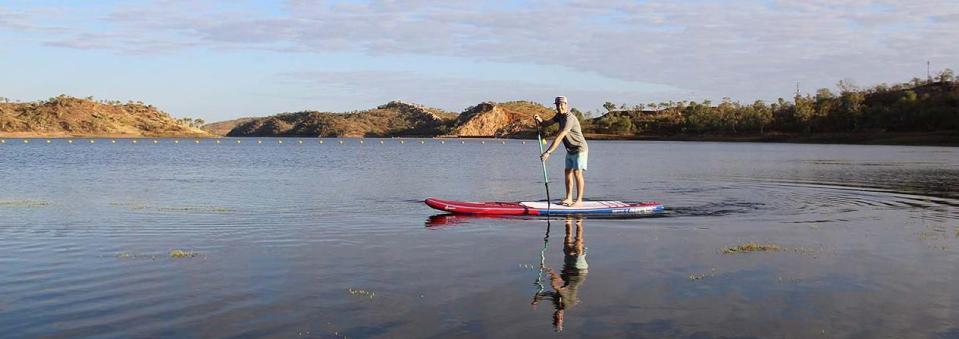 SUPing at Lake Moondara