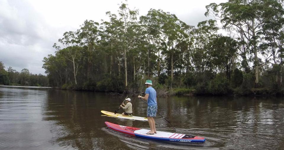 SUPing at Wallamba River