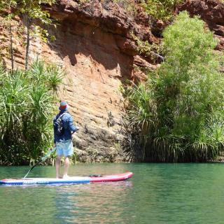 SUPing at Lawn Hill Gorge