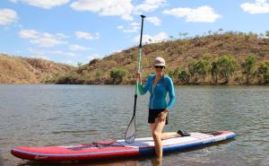 Go to SUPing at Lake Julius, Lake Julius QLD