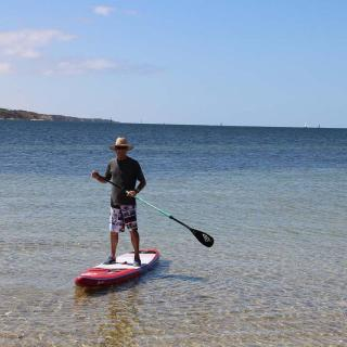 SUPing at Port Vincent