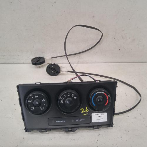 heater/aircon controls