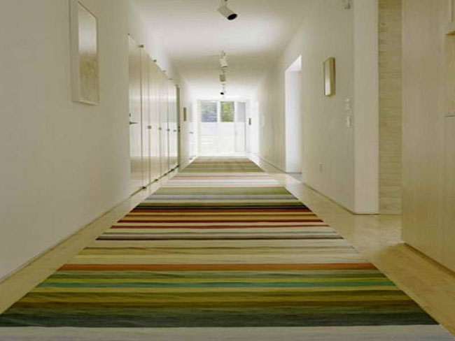 Striped hallway runners