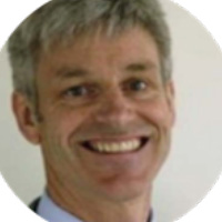 Photo of Dr Chris Wynne  – MB ChB, FRANZCR, FAChPM, DipPharmMed