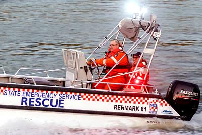 SES volunteers in a boat