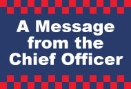 A message from the Chief Officer