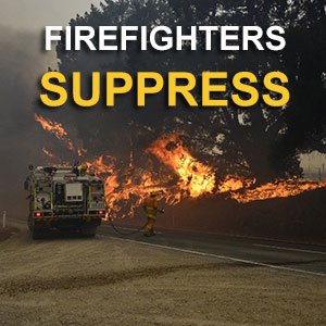 Firefighters Suppress