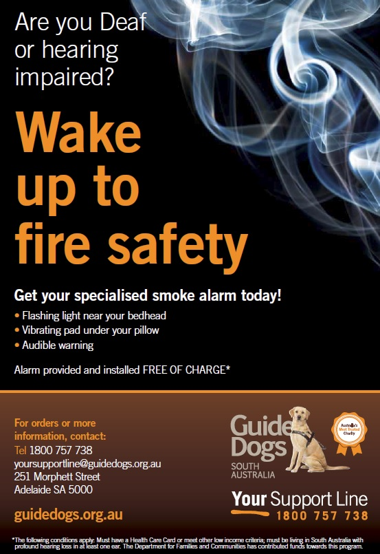 Guide Dogs smoke alarm flyer - image