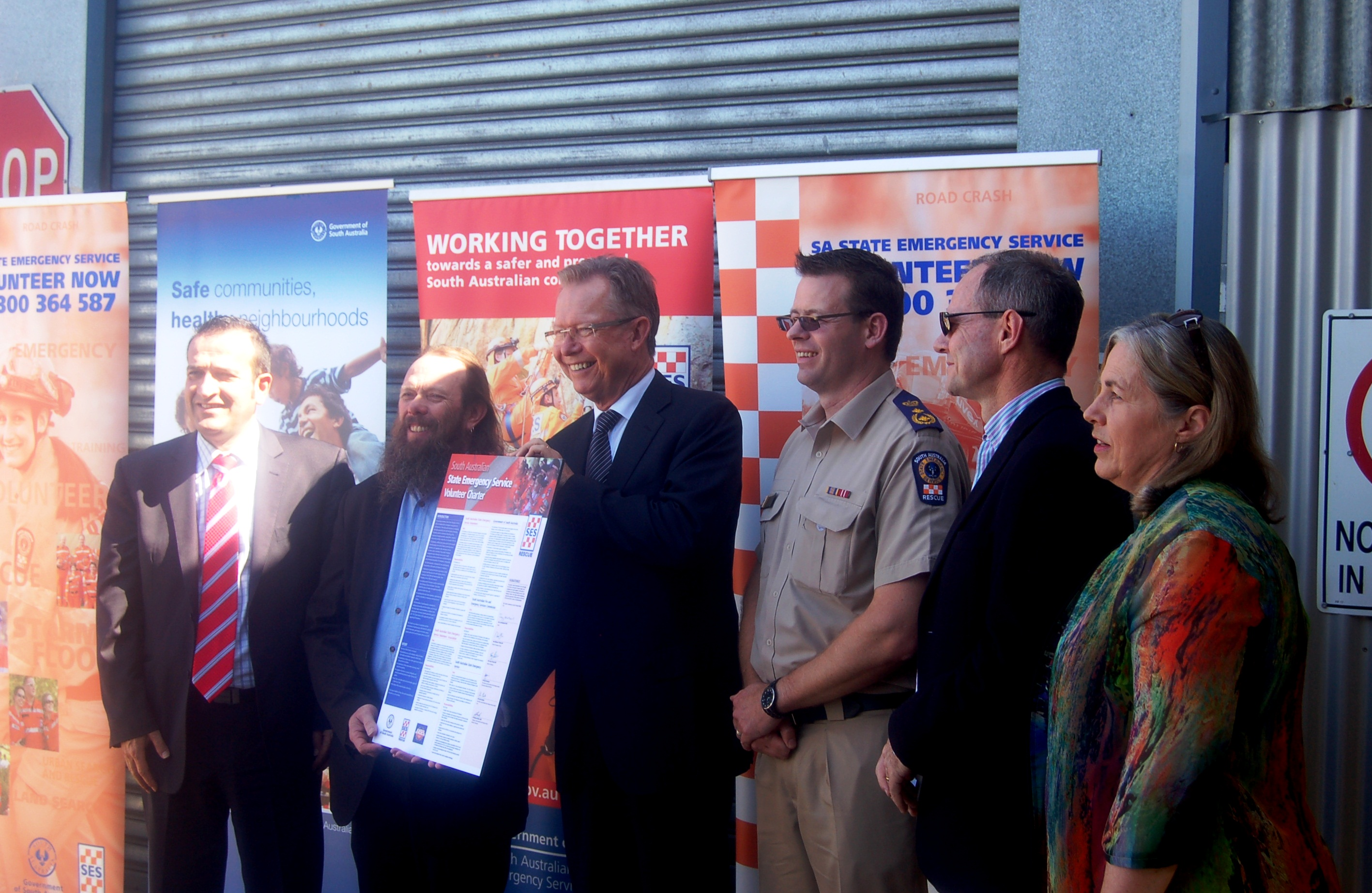 Launch of the SES Volunteer Charter 2013