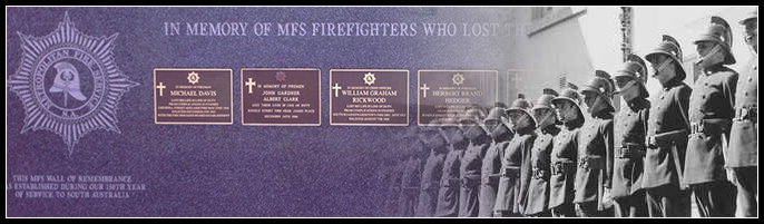Early MFS firefighters and the Wall of Honour.