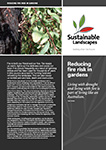 Reducing fire risk in gardens brochure