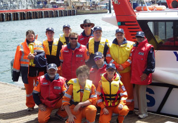 SES - Cadets - at Pt Lincoln SES unit taking a trip on rescue vessel 2014