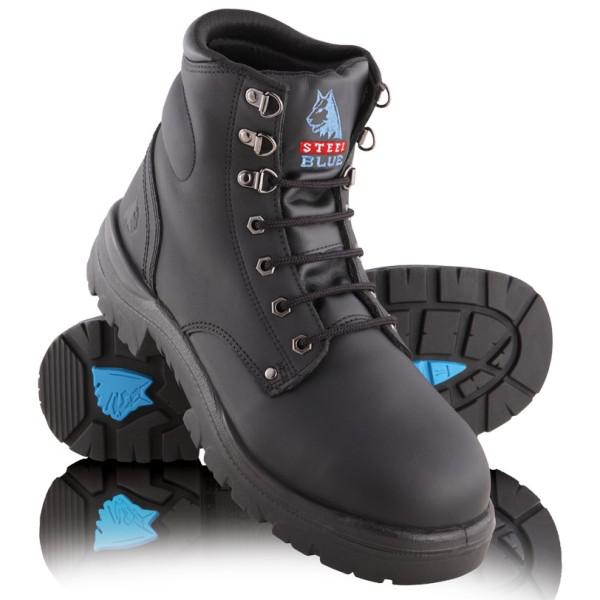7fbff2512a3 Steel Blue Argyle Safety Boot with Meta Guard Black