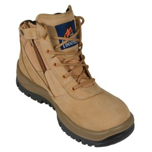 Mongrel 261050 Zip Side Safety Boot, Wheat