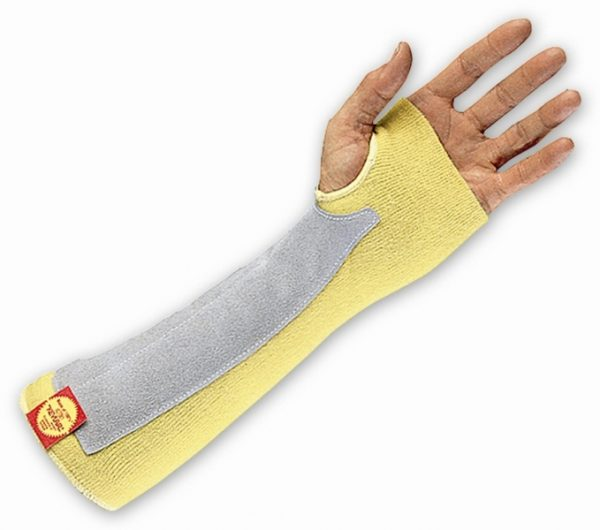 Kevlar Arm Protector with Leather Patch