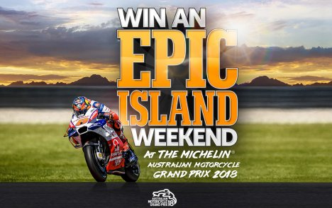 PROMOTION ENDED – WIN A TRIP TO THE MICHELIN® AUSTRALIAN MOTORCYCLE GRAND PRIX 2018
