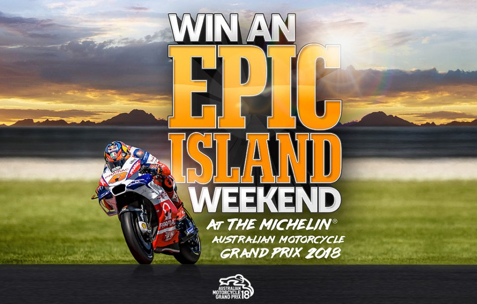WIN A TRIP TO THE MICHELIN® AUSTRALIAN MOTORCYCLE GRAND PRIX 2018