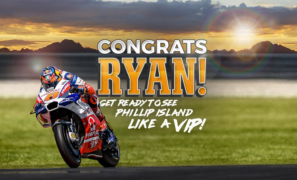 CONGRATULATIONS RYAN! YOU'RE OFF TO PHILLIP ISLAND!
