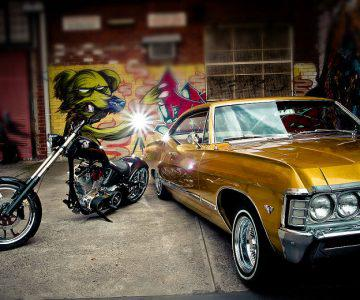 67 Chevy Impala & America Chopper