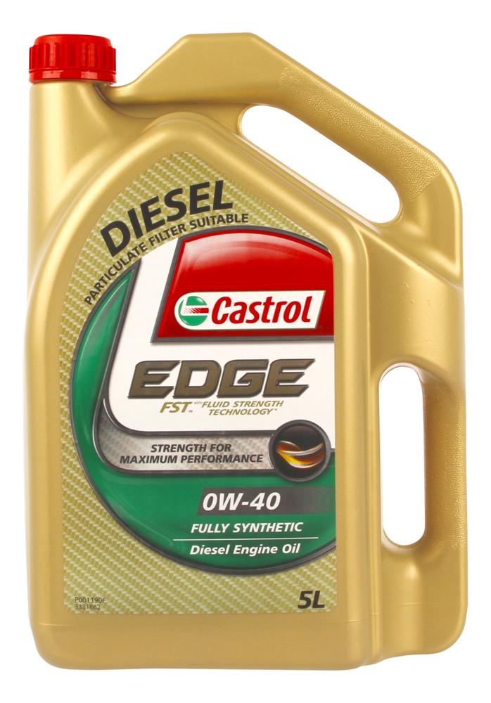 Castrol edge full synthetic 0w40 diesel engine oil 5l 3381862 for Synthetic motor oil for diesel engines
