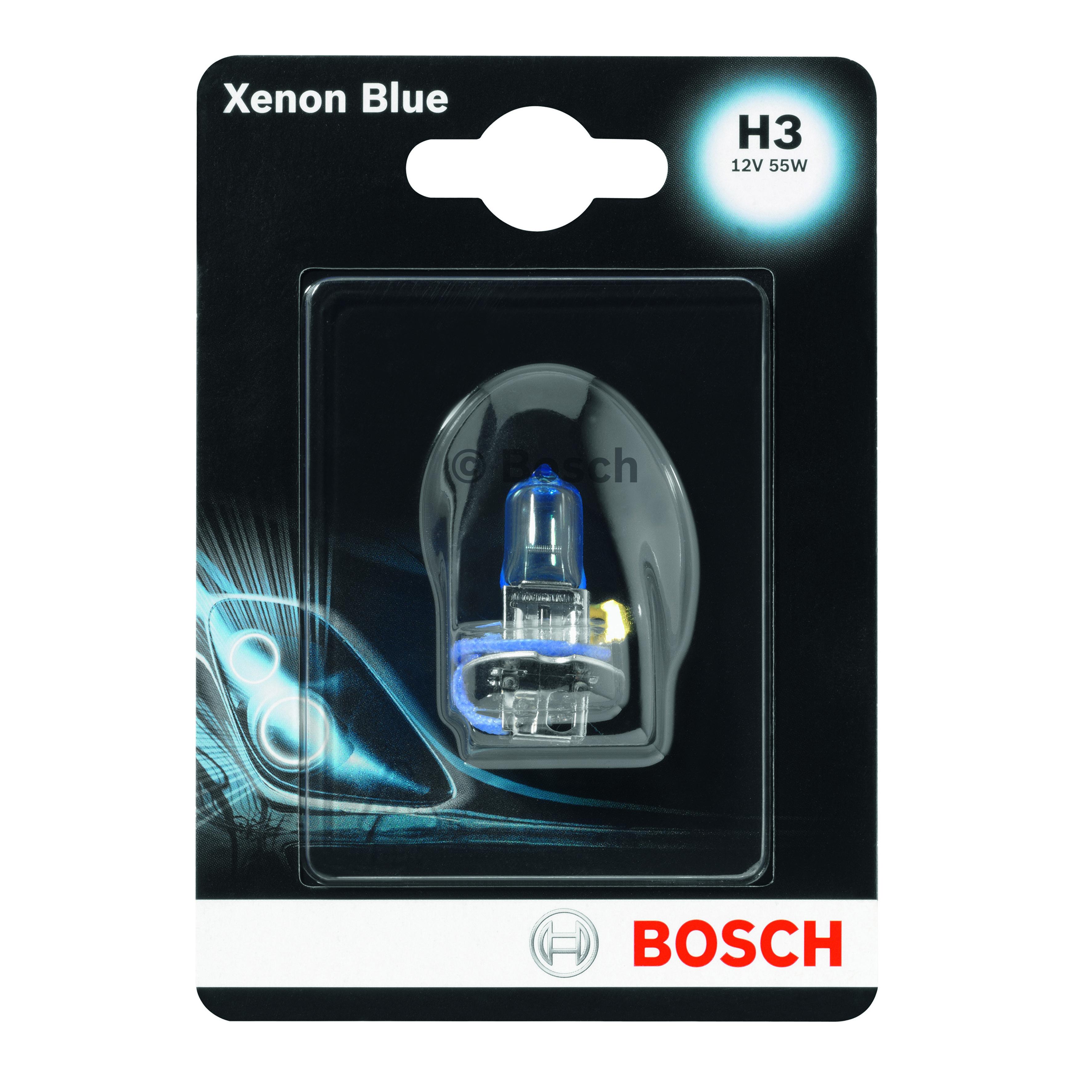 BOSCH H3 Globe Xenon Blue 12V 55W 1987301007 fits Seat Cordoba 1.6 i, 1.8 i, ...