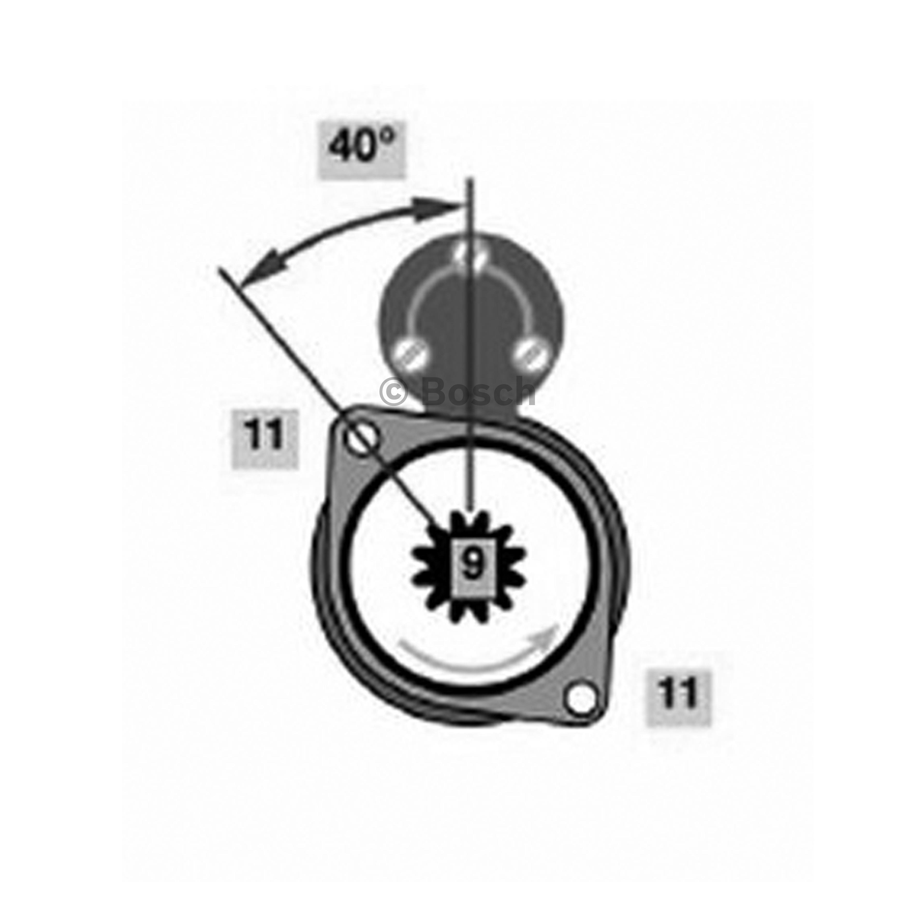 BOSCH Starter Motor 0 001 110 133 fits Volkswagen Transporter/Caravelle 2.4 D...
