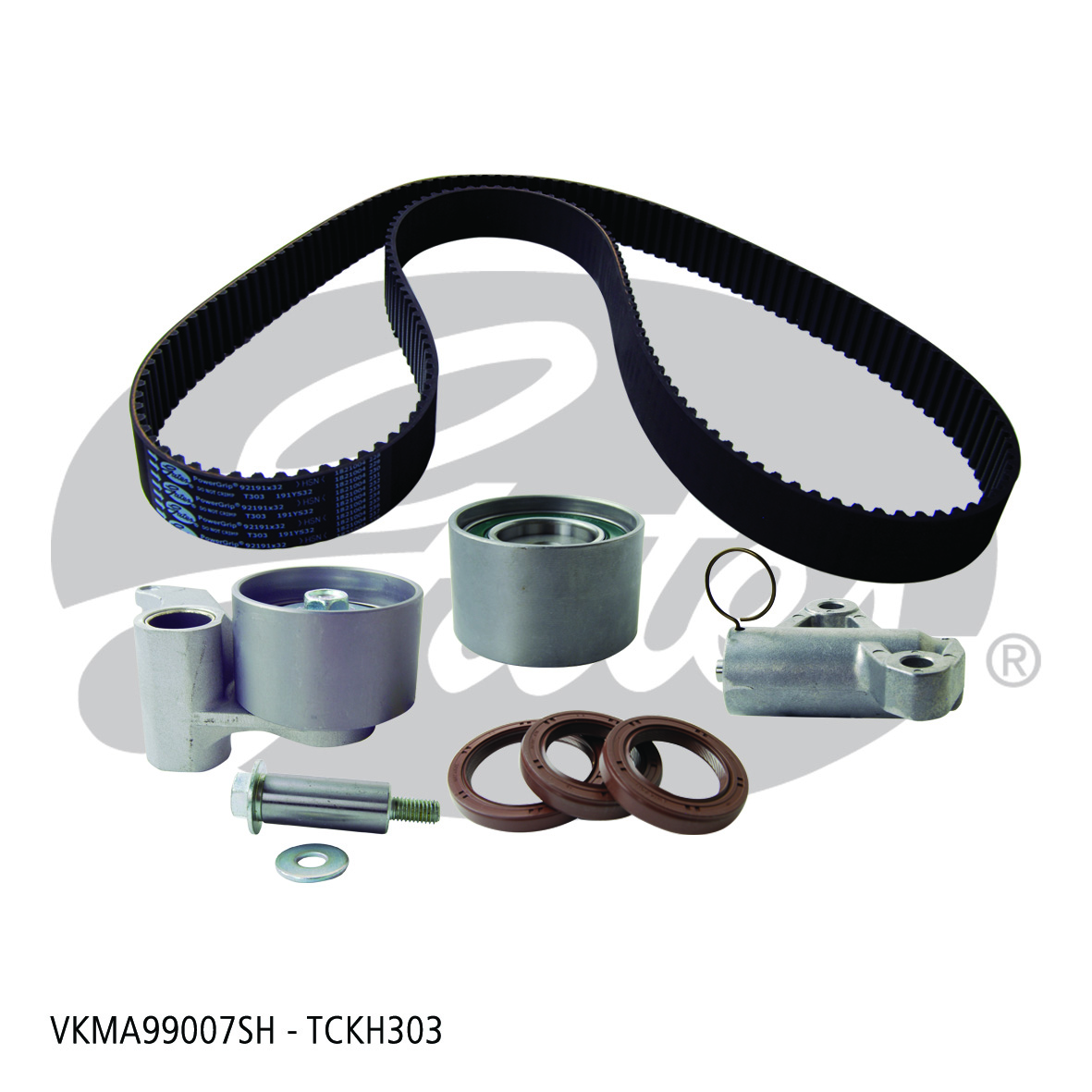 New Gates Timing Belt Kit TCKH303 fits Holden Jackaroo 3.5 RS 4x4 (UBS26)