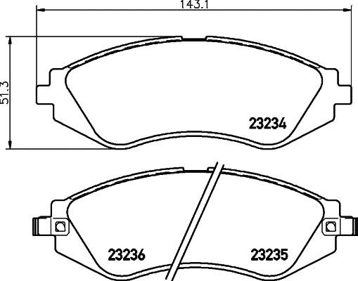 Hella Pagid Brake Pad Set Front T3106a Fits Daewoo Lanos 1 6 16v
