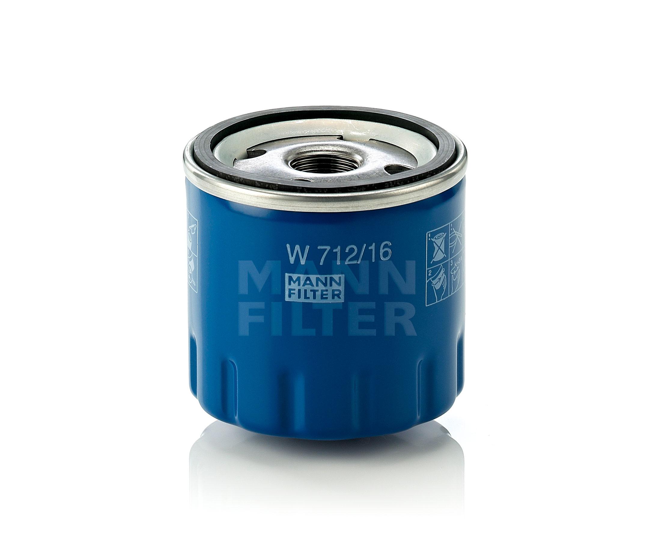 MANN Oil Filter W712/16 Fits Alfa Romeo 147 2.0 16V Twin