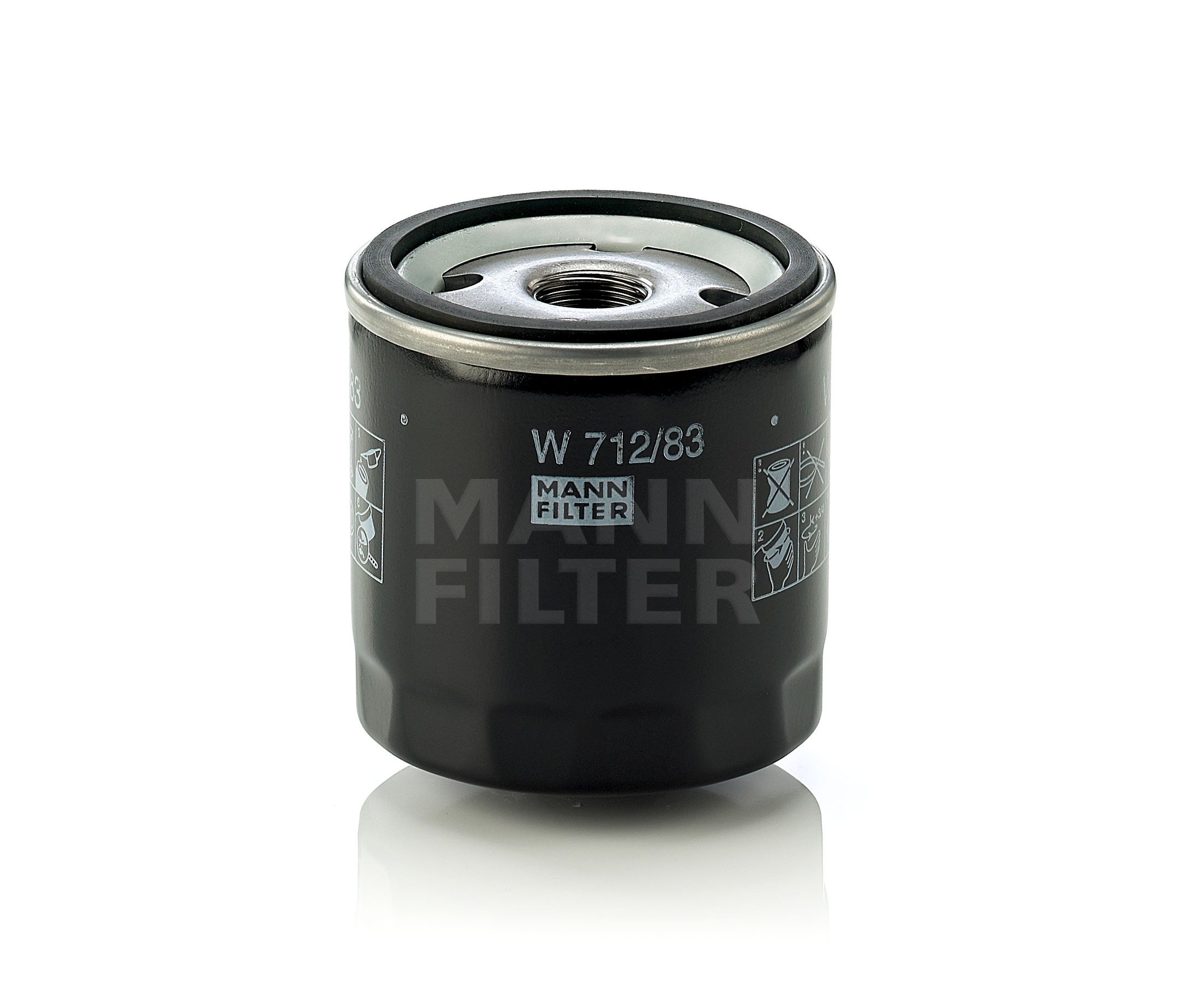 Mann Fuel Filter 1044: MANN Oil Filter W712/83 4011558000943