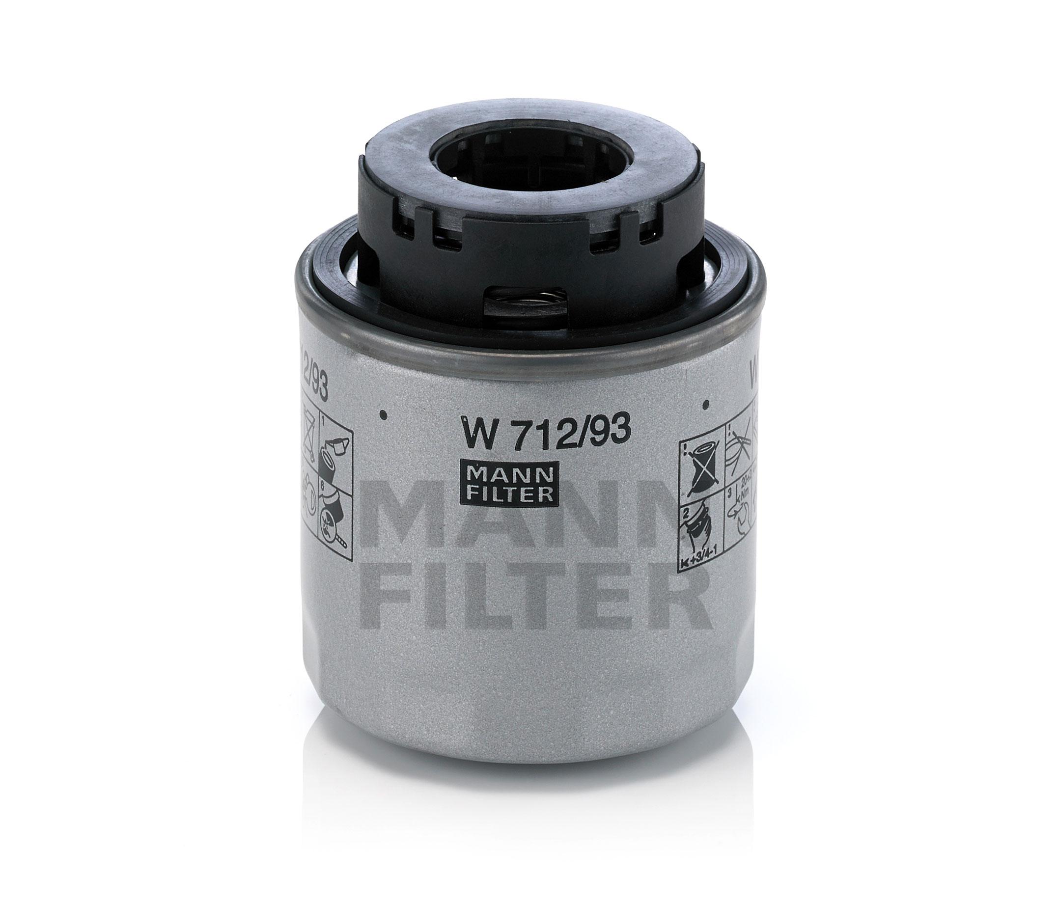 Mann Oil Filter W712  93 Fits Volkswagen Golf 1 2 Tsi Mk6  77kw   1 4 Tsi Mk6