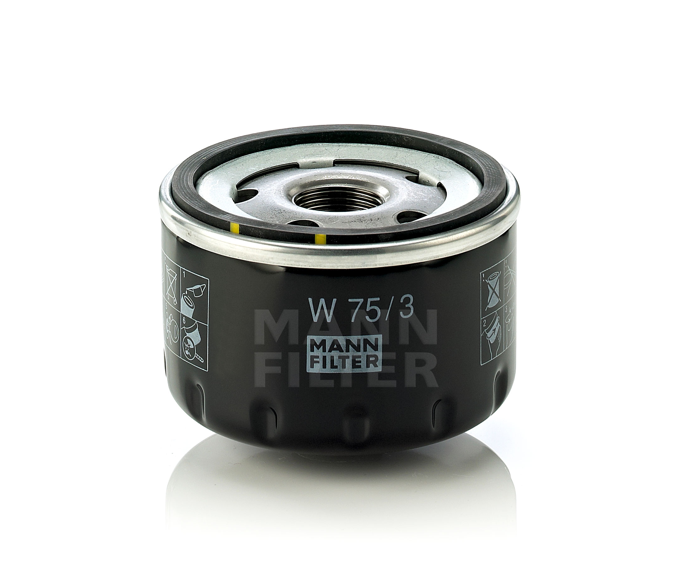 Mann Fuel Filter 1044: MANN Oil Filter W75/3 4011558728809