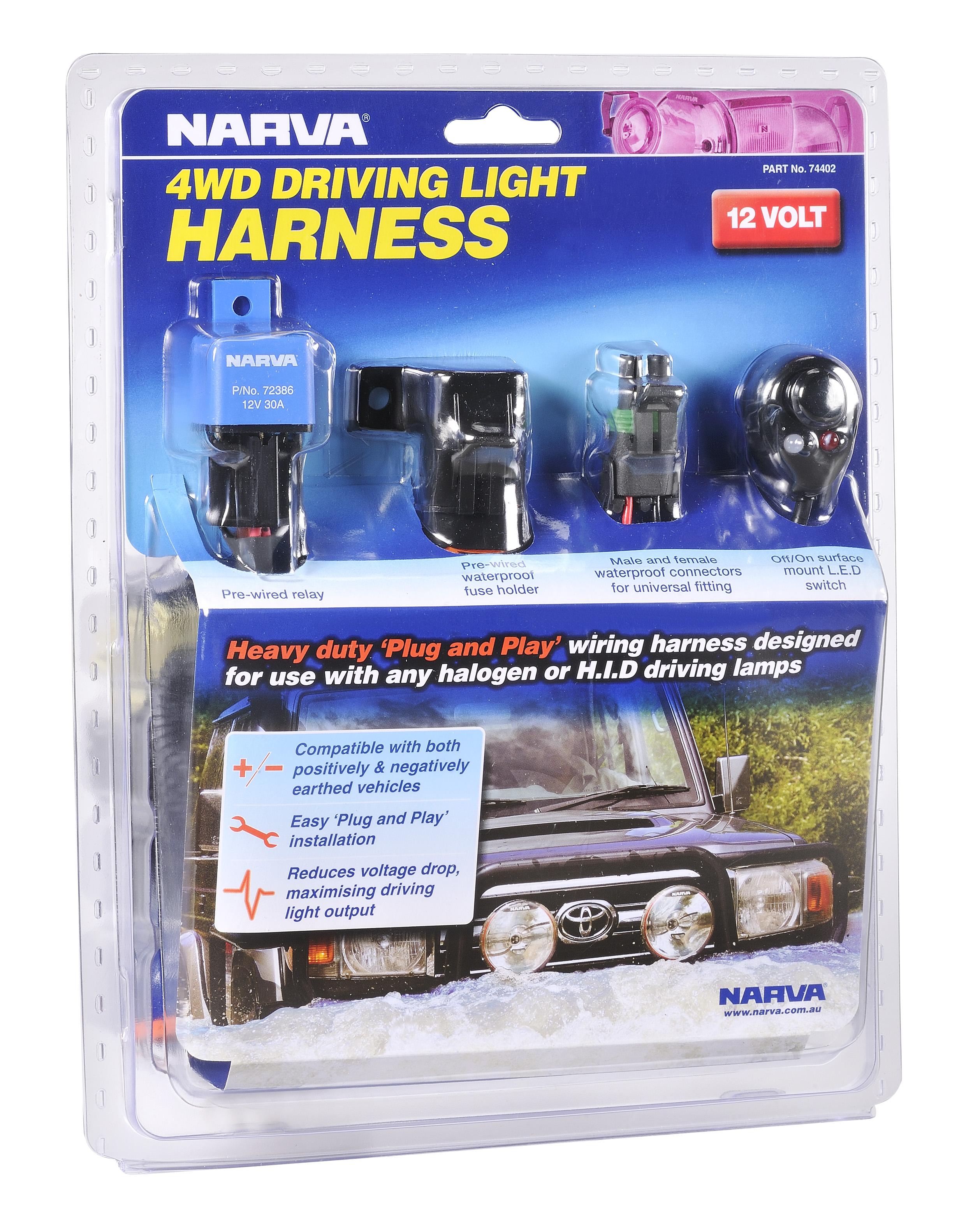 Narva Driving Light Harness 12V - 74402