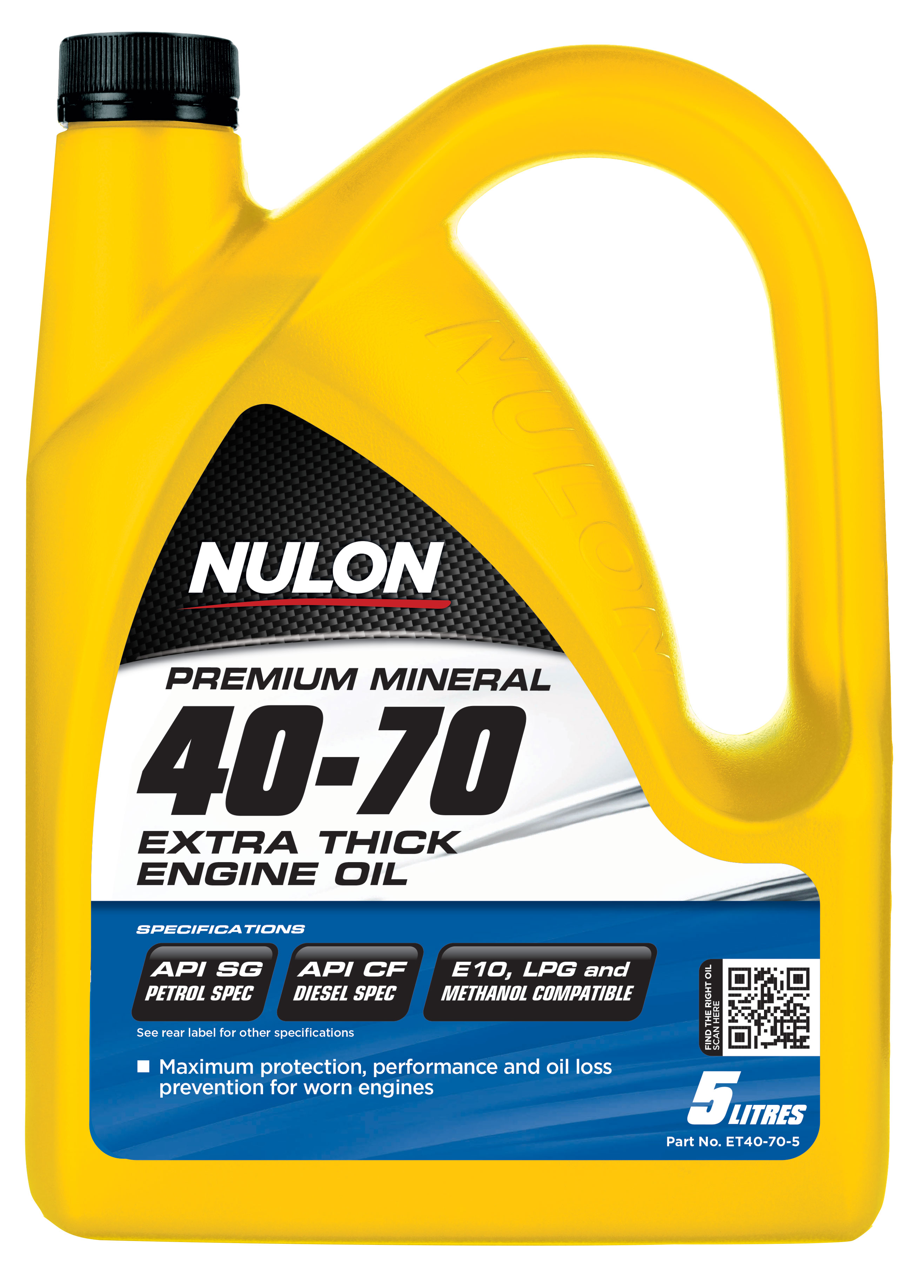 Box Of 3 Nulon Premium Mineral 40w70 Extra Thick Engine