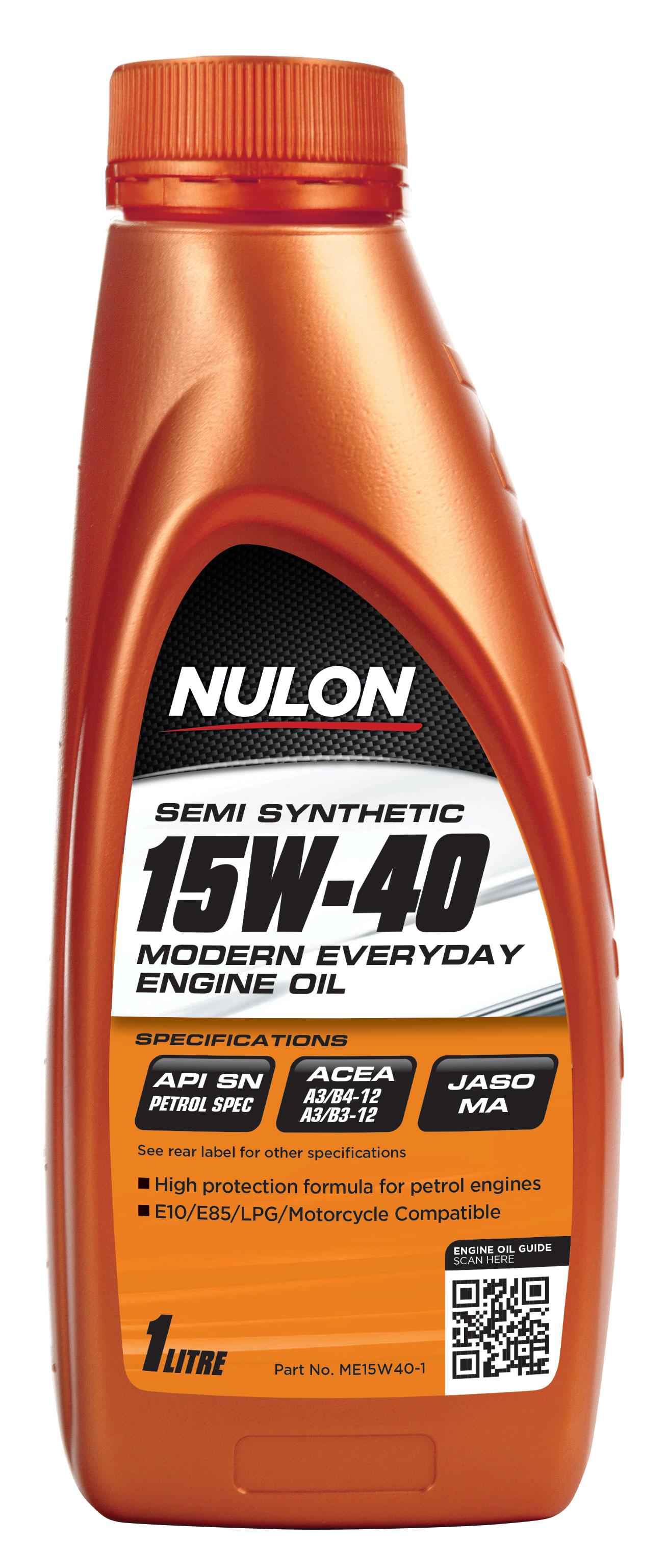 Nulon Semi Synthetic 15w40 Modern Everyday Engine Oil 1l