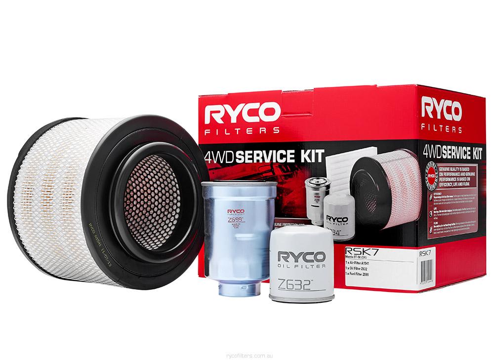 K-11100 ref Ryco RSK7 FOR MAZDA BT-50 CD Sakura 4x4 Filter Service Kit