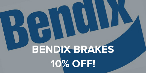 10% off all Bendix Brakes!