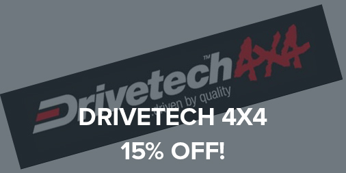 15% off all Drivetech 4x4 accessories!